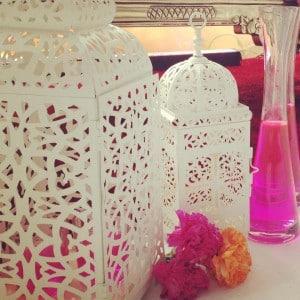 white tea light lanterns