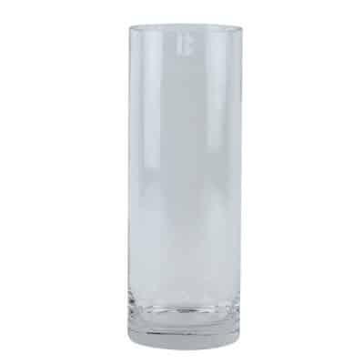 glass vase wedding decor hire