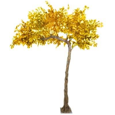 gold leaf tree hire wedding decor