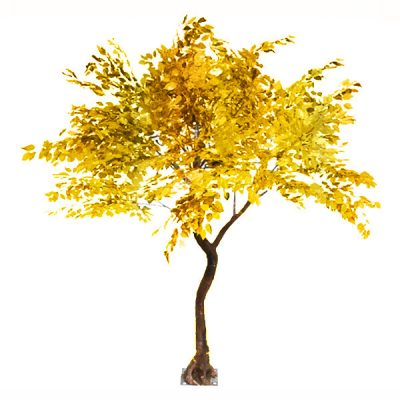 gold leaf tree hire wedding decor