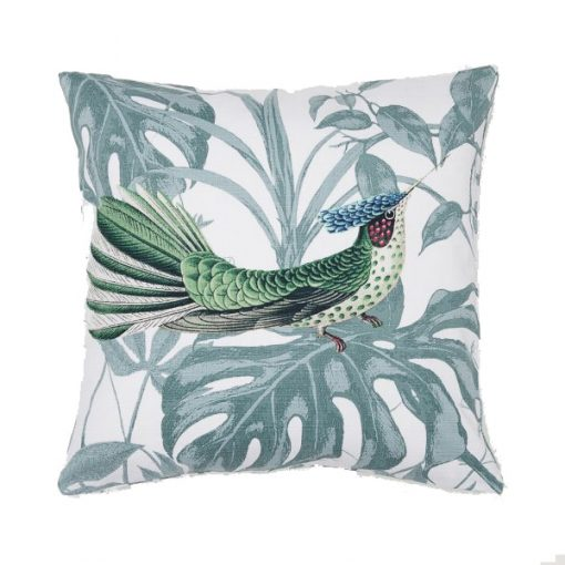 blue bird cushion hire wedding decor