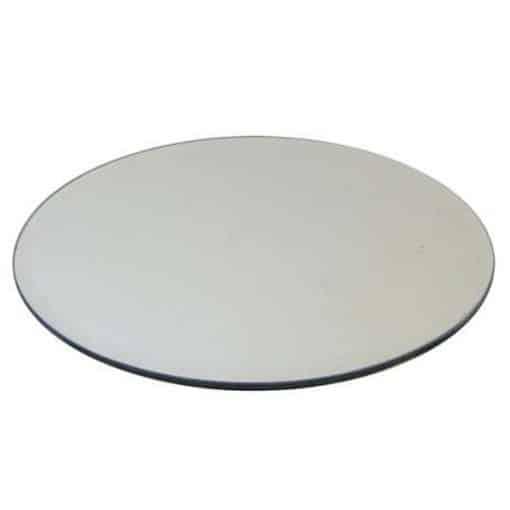 mirror plate hire wedding decor