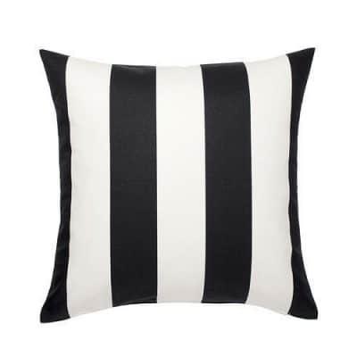 black and white striped cushion hire wedding decor