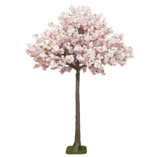 pink blossom tree hire wedding decor