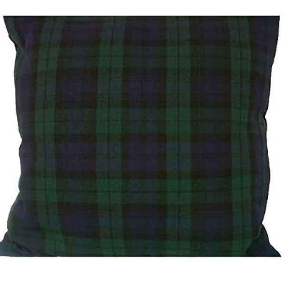 blue tartan cushion wedding decor hire