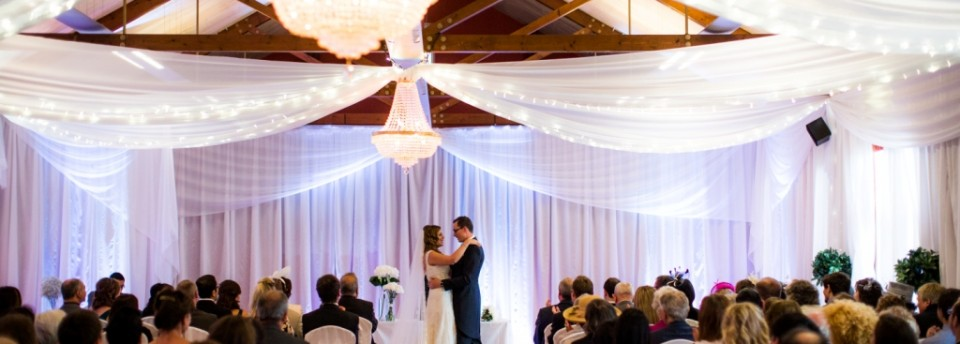 Venue draping for ceremony