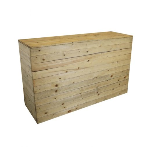 6ft pallet bar wedding furniture hire