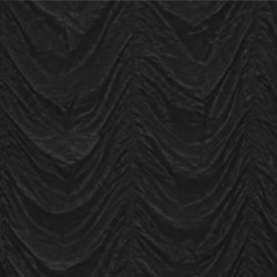 black cabaret drape wedding hire