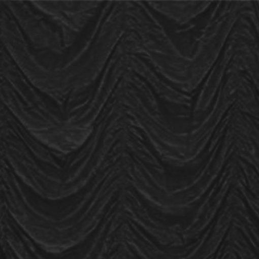 black cabaret drape wedding hire