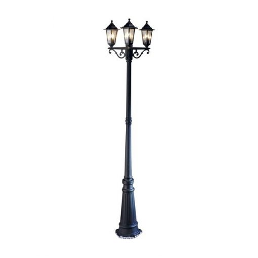 black street lamp prop hire wedding decor