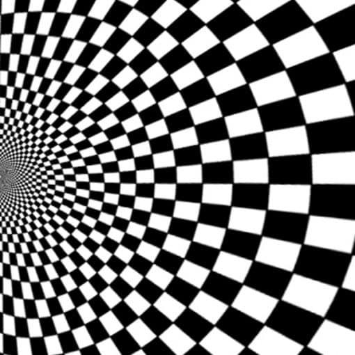 black and white illusion backdrop circus wedding theme