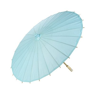 blue paper parasol mehndi wedding decor