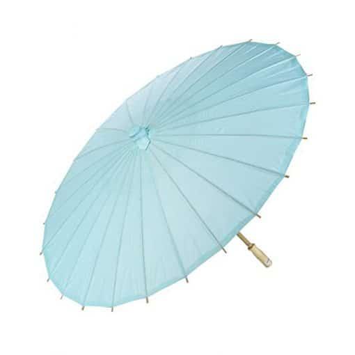 blue paper parasol mehndi wedding decor