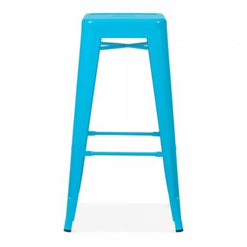blue tolix poseur stool wedding furniture hire