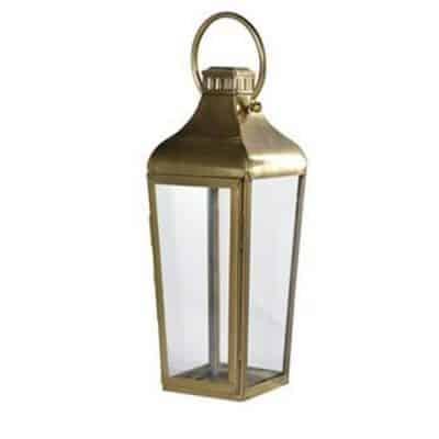 brass lantern hire wedding deco
