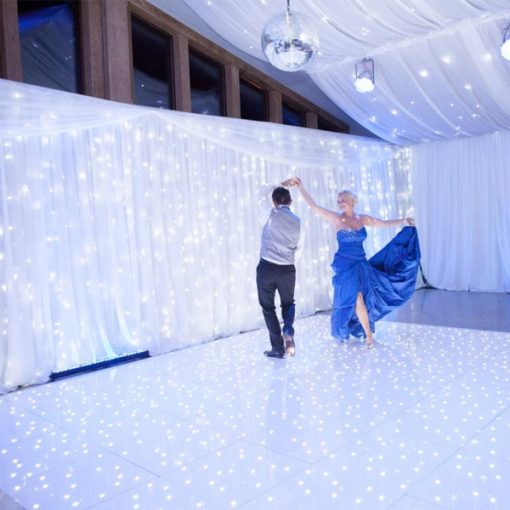 bright white fairy light curtain wedding decor hire