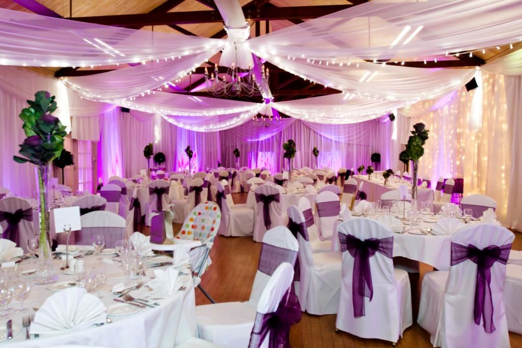 Fabric fairy light canopy | More Weddings