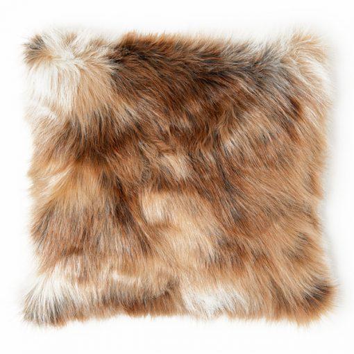 brown fur cushion wedding decor hire