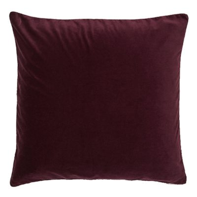 burgundy cushion wedding decor hire