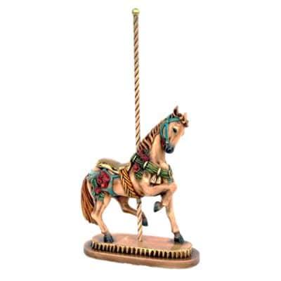 carousal horse table centre circus wedding theme