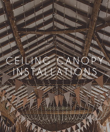 More Weddings ceiling canopy accessories