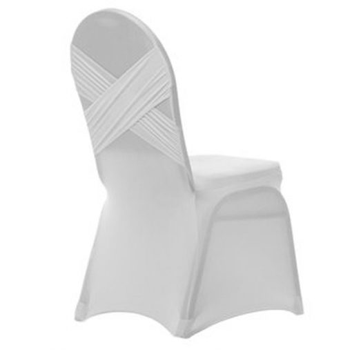 white chair cover hire wedding decor