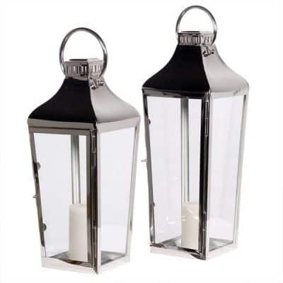 chrome lantern hire wedding decor