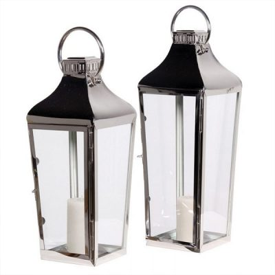 chrome lantern hire wedding decor