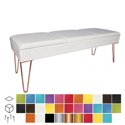 colours ottoman bench wedding furniture hire
