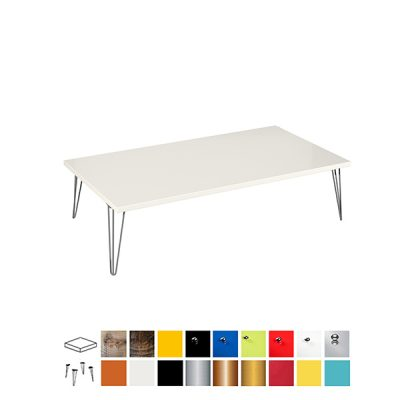 colours ottoman large rectangular coffee table wedding hire