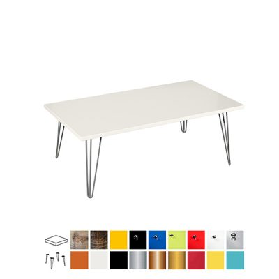colours ottoman rectangular coffee table wedding hire