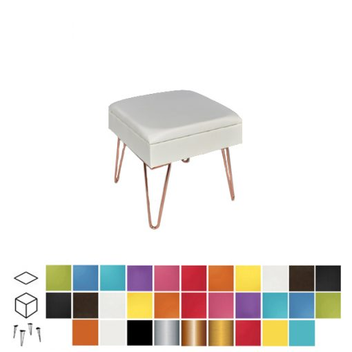 colours ottoman stool wedding furniture hire