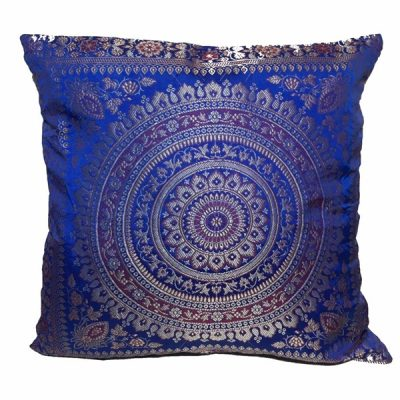 dark blue moroccan cushion mehndi wedding theme