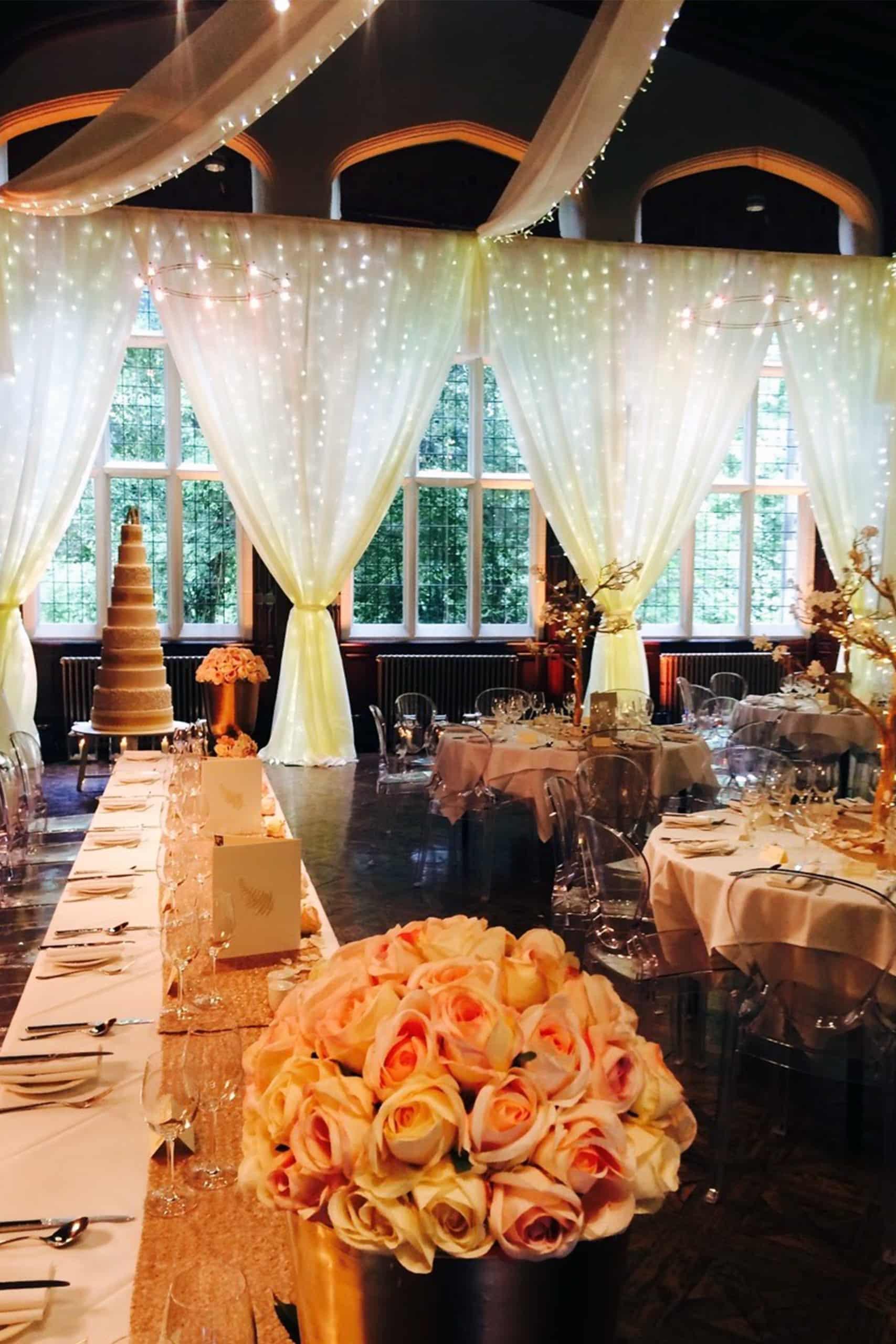 wedding fairy light curtain hire
