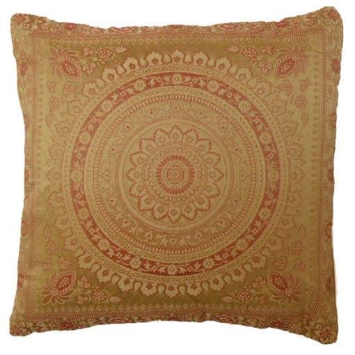 gold moroccan cushion mehndi wedding theme