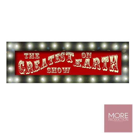 the greatest show sign hire circus wedding theme