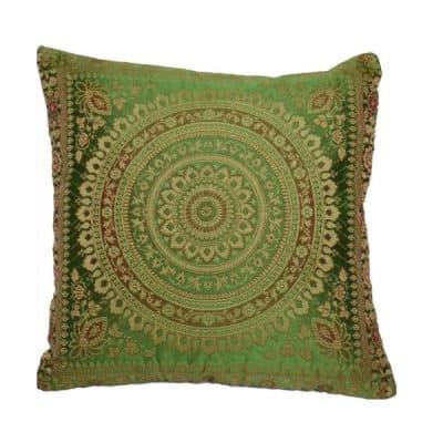 green moroccan cushion