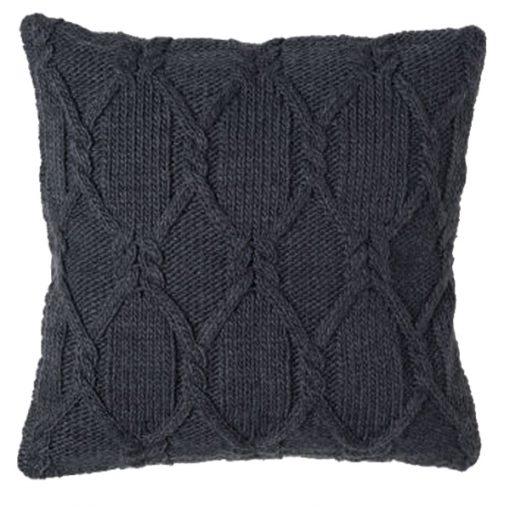 grey knit cushion wedding decor hire