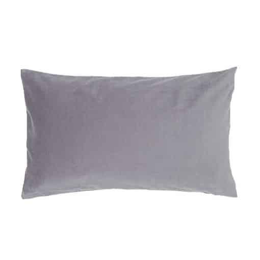 grey velvet cushion wedding decor