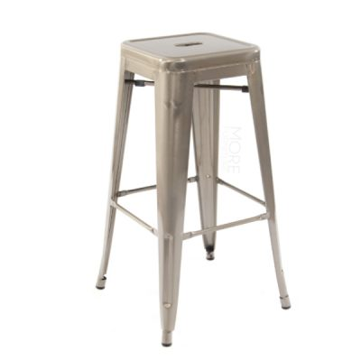 gunmetal tolix stool wedding hire