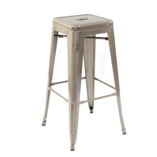 gunmetal tolix stool wedding hire