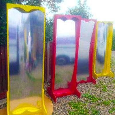 hall of mirrors prop hire circus wedding theme