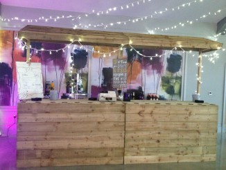 pallet bar with top wedding furniture hire
