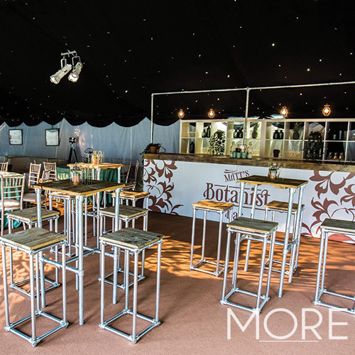 Industrial Poseur Table hire