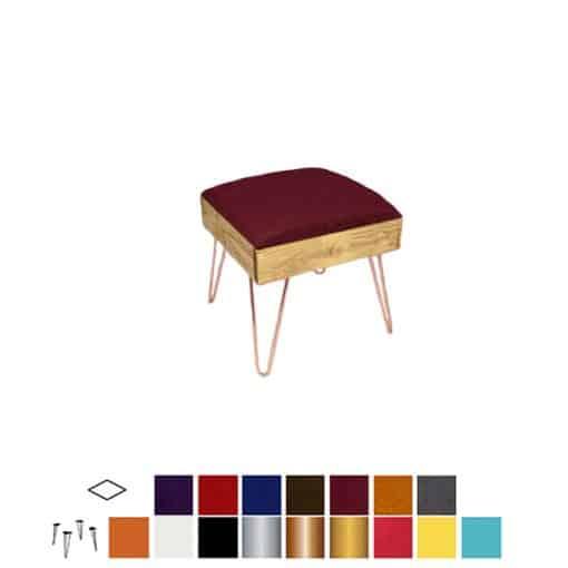 industrial ottoman stool wedding hire