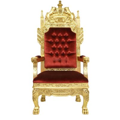 king throne prop hire wedding decor