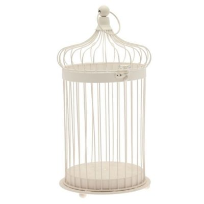 large cream bird cage hire wedding decor
