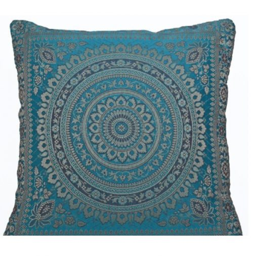 light blue moroccan cushion mehndi wedding theme
