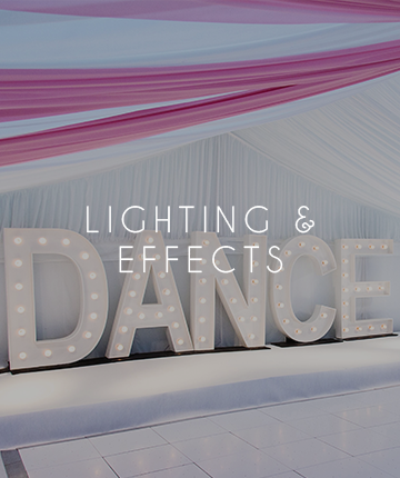 More Weddings lighting & effects hire