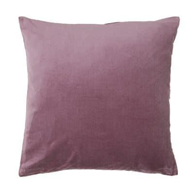 mauve pink velvet cushion hire wedding decor